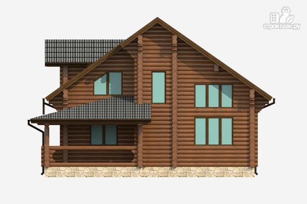 Фото 4: проект бревенчатый дом на три спальни с котельной и холлом «второй свет»