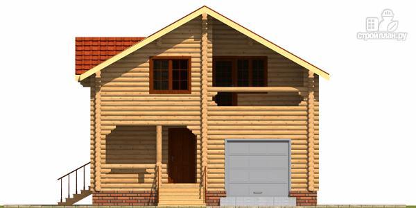 Фото 2: проект деревянный дом с гаражом и двумя террасами