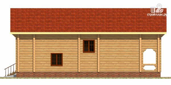 Фото 3: проект деревянный дом с гаражом и двумя террасами