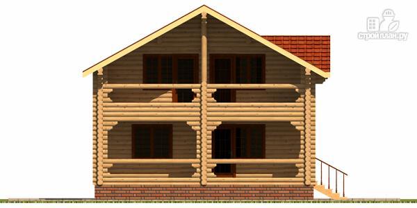 Фото 4: проект деревянный дом с гаражом и двумя террасами