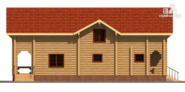 Фото 5: проект деревянный дом с гаражом и двумя террасами