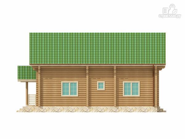 Фото 4: проект бревенчатый двухэтажный дом с симметричной планировкой