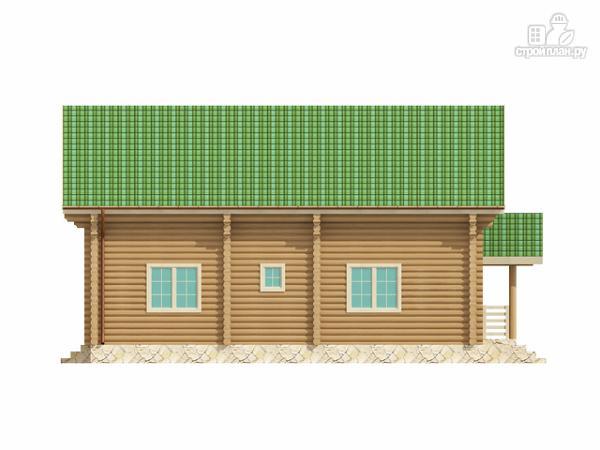 Фото 5: проект бревенчатый двухэтажный дом с симметричной планировкой