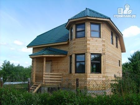 Фото 9: проект дом из бруса 6х8 с эркером