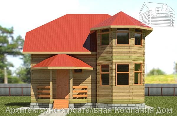 Фото 7: проект дом из бруса 6х8 с эркером