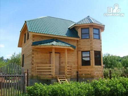Фото 8: проект дом из бруса 6х8 с эркером