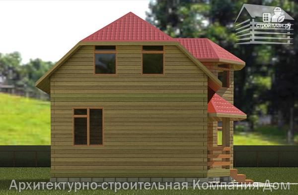 Фото 6: проект дом из бруса 6х8 с эркером