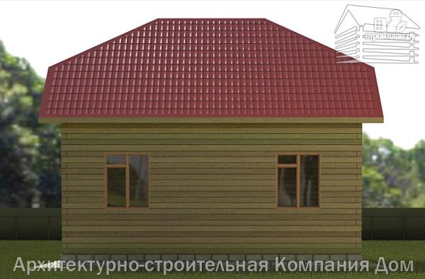 Фото 5: проект дом из бруса 6х8 с эркером