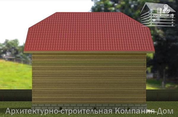 Фото 6: проект дом из бруса 6х8 с мансардой