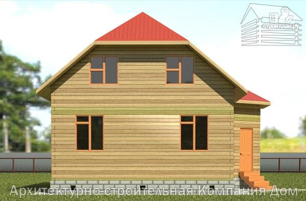 Фото 7: проект дом из бруса 6х8 с мансардой