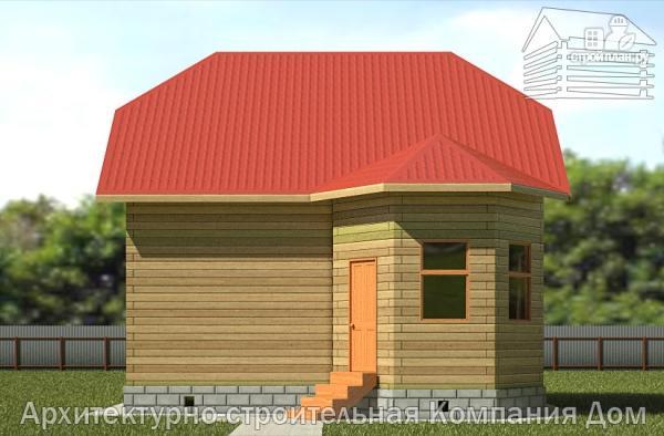 Фото 4: проект дом из бруса 6х8 с мансардой