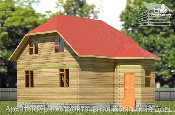 Фото: проект дом из бруса 6х8 с мансардой