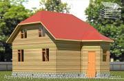 Фото: дом из бруса 6х8 с мансардой