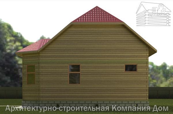 Фото 5: проект дом из бруса 6х8 с мансардой