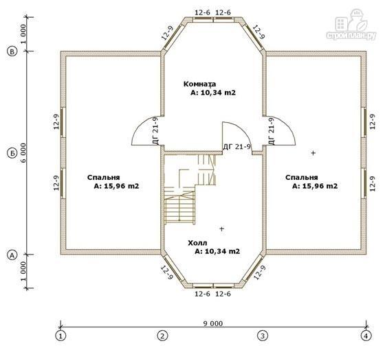 Фото 3: проект деревянный дом 6х9 с эркером