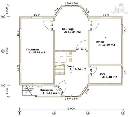 Фото 2: проект деревянный дом 6х9 с эркером