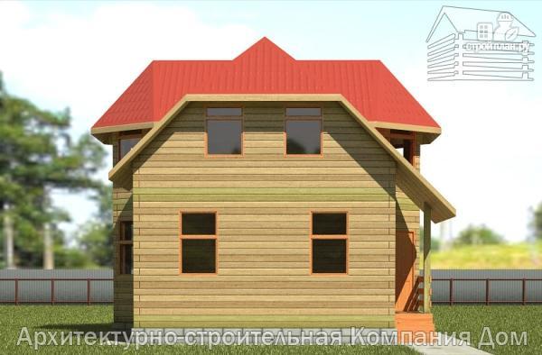 Фото 7: проект деревянный дом 6х9 с эркером