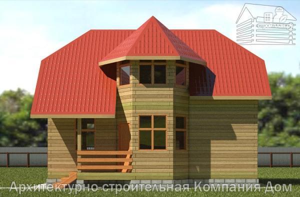 Фото 4: проект деревянный дом 6х9 с эркером