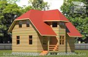 Проект деревянный дом 6х9 с эркером