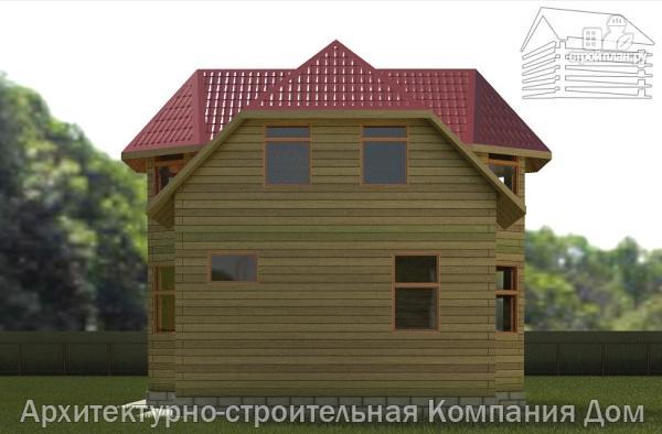 Фото 5: проект деревянный дом 6х9 с эркером