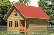 Проект дом из бруса 6,5х8 с верандой