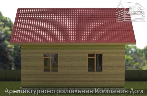 Фото 5: проект дом из бруса 6,5х8 с верандой