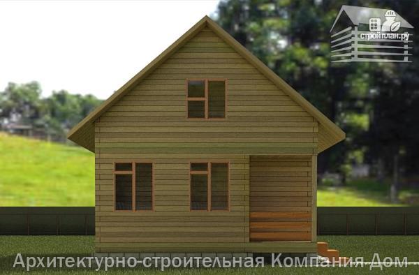 Фото 6: проект дом из бруса 6,5х8 с верандой