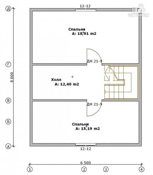 Фото 3: проект дом из бруса 6,5х8 с верандой