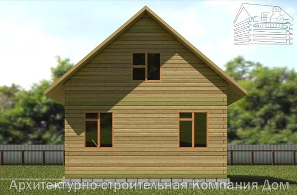 Фото 4: проект дом из бруса 6,5х8 с верандой