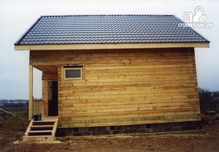 Фото 8: проект дом из бруса 6,5х8 с верандой