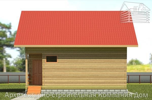 Фото 7: проект дом из бруса 6,5х8 с верандой