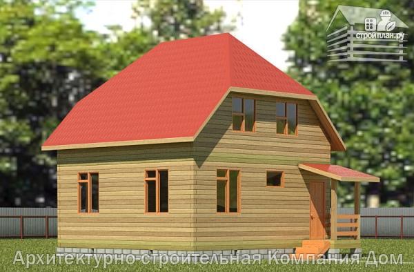 Фото: проект дом из бруса 7х7 с мансардой