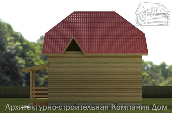 Фото 5: проект дом из бруса 7х7 с мансардой