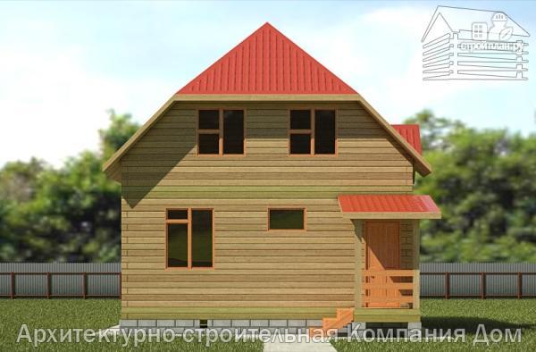 Фото 4: проект дом из бруса 7х7 с мансардой