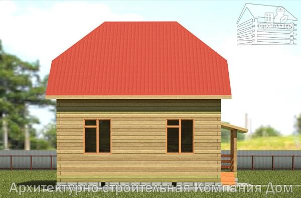 Фото 7: проект дом из бруса 7х7 с мансардой