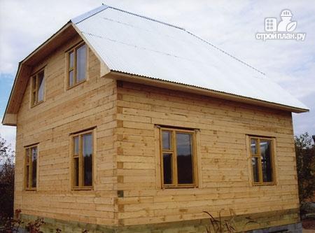 Фото 8: проект дом из бруса 7х7 с мансардой