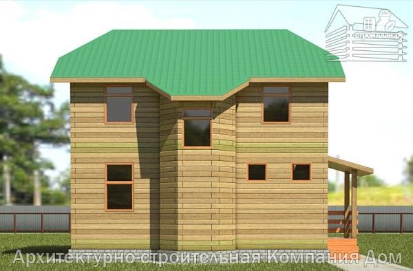 Фото 7: проект дом из бруса 7х8