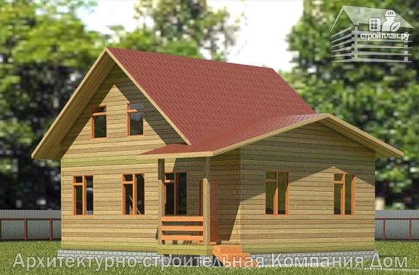 Фото: проект дом из бруса 7х9 с верандой
