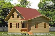 Проект дом из бруса 7х9 с верандой