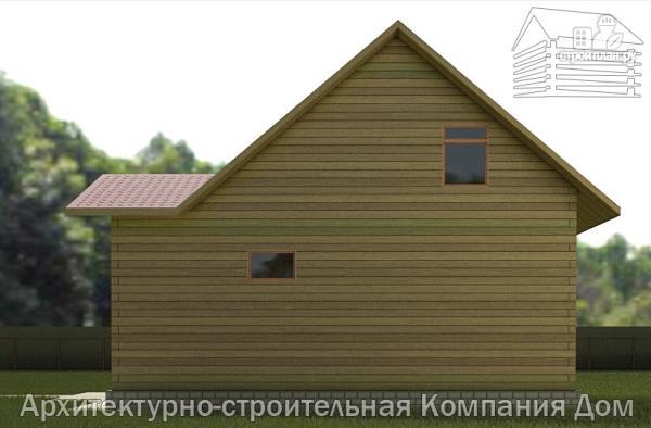 Фото 5: проект дом из бруса 7х9 с верандой