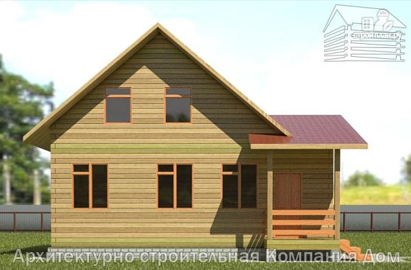 Фото 7: проект дом из бруса 7х9 с верандой