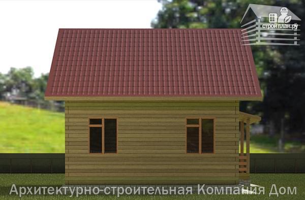 Фото 6: проект дом из бруса 7х9 с верандой