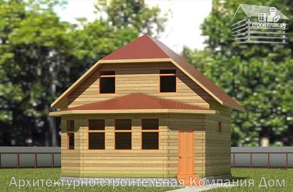 Фото: проект дом деревянный 7х9 с верандой