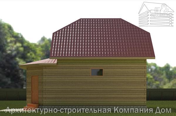 Фото 5: проект дом деревянный 7х9 с верандой