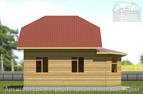 Фото 7: проект дом деревянный 7х9 с верандой