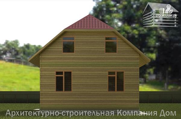 Фото 6: проект дом деревянный 7х9 с верандой