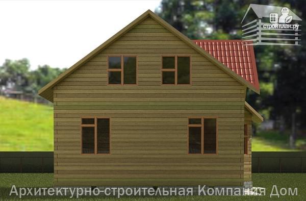Фото 6: проект дом из бруса 7,5х7,5 с балконом и крыльцом