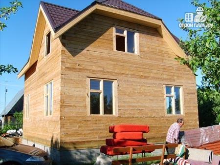 Фото 11: проект дом из бруса 7,5х8 с мансардой