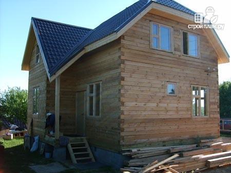 Фото 10: проект дом из бруса 7,5х8 с мансардой