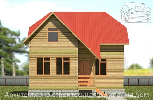 Фото 7: проект дом из бруса 7,5х8 с мансардой